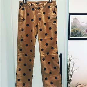 J. Crew polka dot chinos. Size 6. Barely worn!